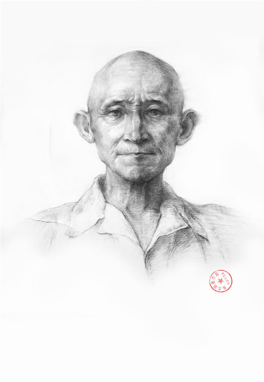 南北朝画室学生素描作品